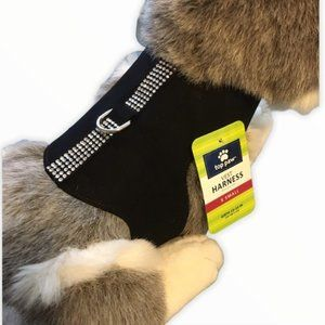 Top Paw  Bling Vest/Harness Black XS